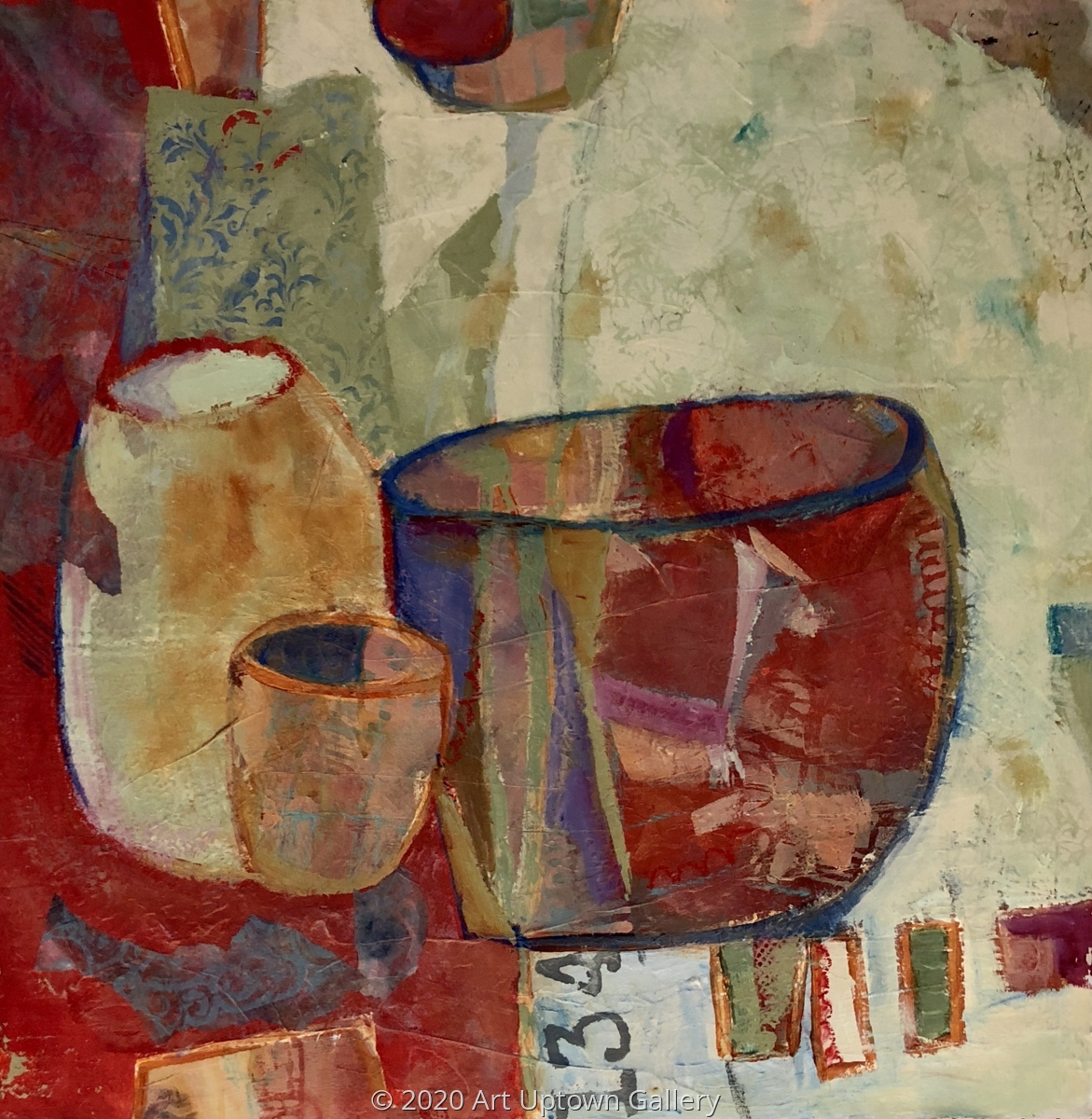 'Still Life In Reds' by Krasner (large view)