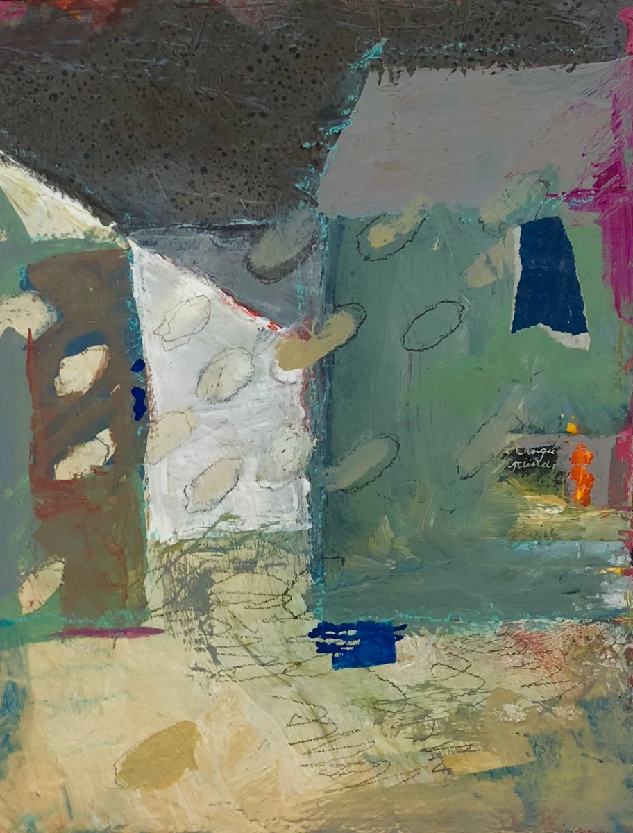 """'House Series No 1"""" by Krasner (large view)"""
