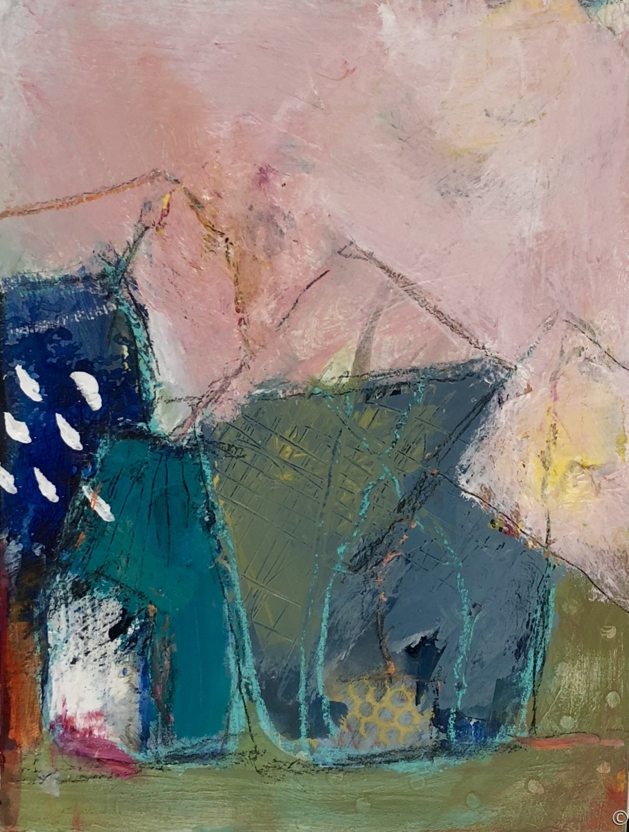 """'House Series No 2"""" by Krasner (large view)"""
