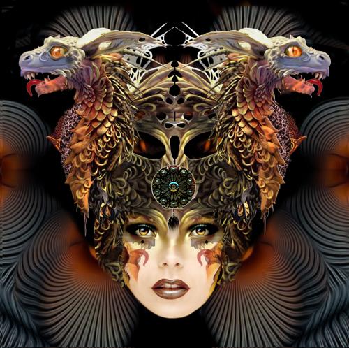 'Double Dragon Masque' by Trostli