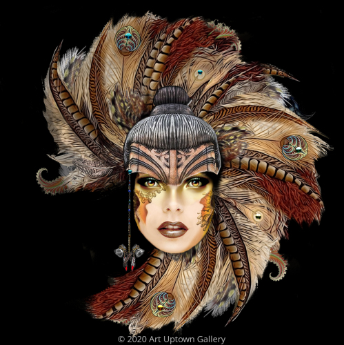 'Feathered Headdress' by Trostli