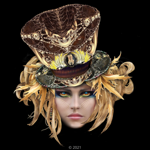 'Steampunk Top Hat Masque' by Trostli