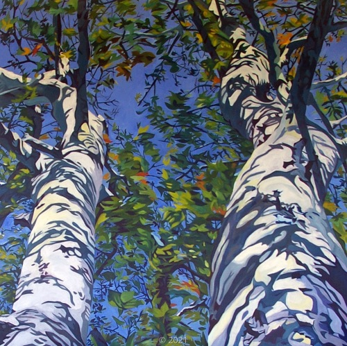 'Sky Blue Mother Nature Green' by Evelyn McCorristin Peters
