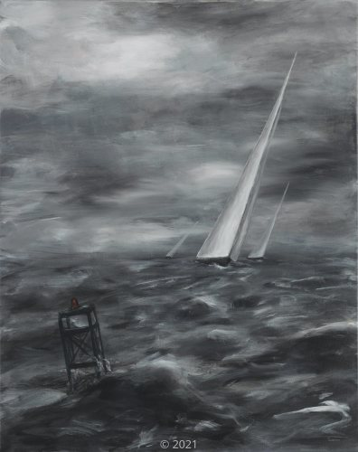 'Racing to the Buoy' by W. Swanson