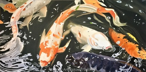 """Colorful Koi"" by Marlane Wurzbach"