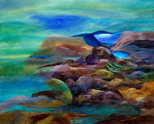 'Coral Reef Abstract' by Swanson