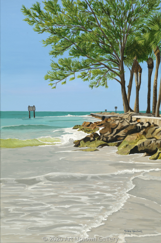 """Coquina Jetty at Longboat Pass"" by Marlane Wurzbach"