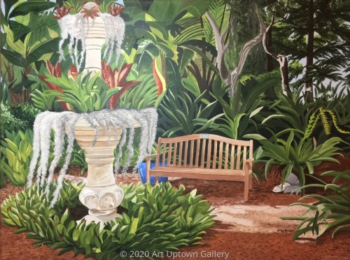 """Payne Mansion Side Yard @ Selby Gardens"" by Marlane Wurzbach"