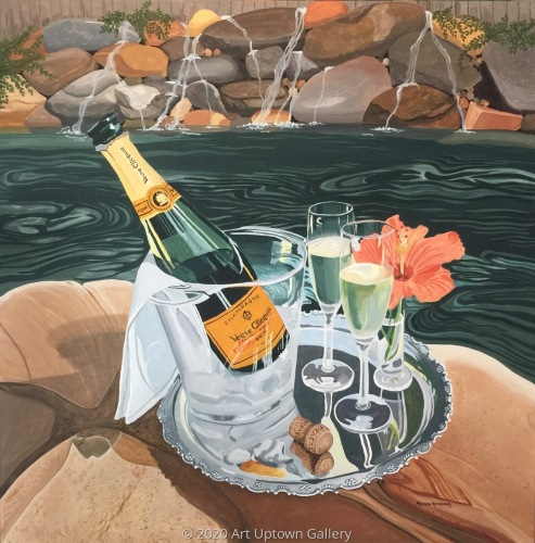 """Champers Poolside"" by Marlane Wurzbach"