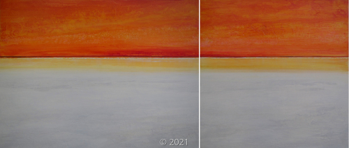 'SPACE AND TIME' diptych by M. Lorimer