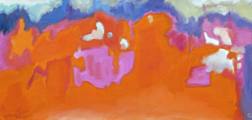 Orange and Pink Daydream by Evelyn McCorristin Peters