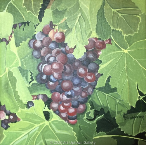 """Peel Me a Grape"" acrylic by Marlane Wurzbach"