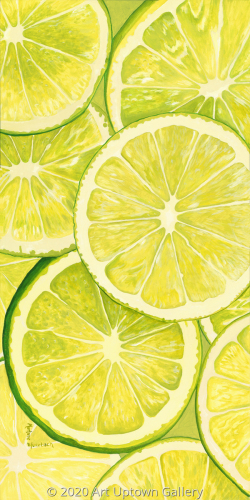 """Slice of Lime"" acrylic by Marlane Wurzbach"