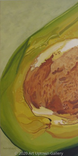 """Slice of Avocado Green"" acrylic by Marlane Wurzbach"