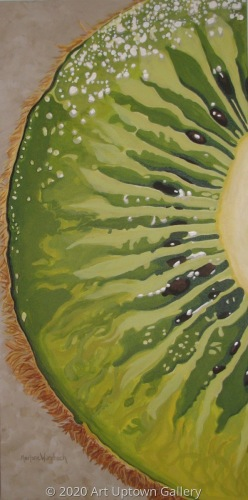 """Slice of Kiwi Green"" acrylic by Marlane Wurzbach"
