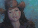 Dana in cowboy hat (thumbnail)