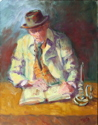 Elderly Man Reading (thumbnail)