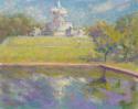 Scott Fountain Reflected Belle Isle (thumbnail)