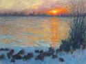 Sunset on Ice Floes 2 (thumbnail)