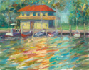 Reflections of the DYC Boathouse (thumbnail)