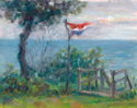 Dutch flag over Lake Michigan (thumbnail)
