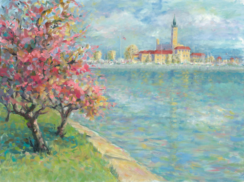 Spring Trees and the Grosse Pointe Yacht Club