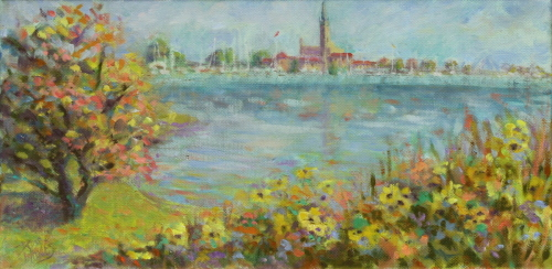Grosse Pointe Yacht Club with Flowers (thumbnail)