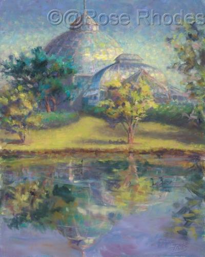 Bell Isle Conservatory Reflected on Lake Takoma (large view)