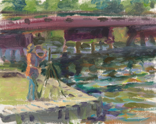 Painting by the Bridge