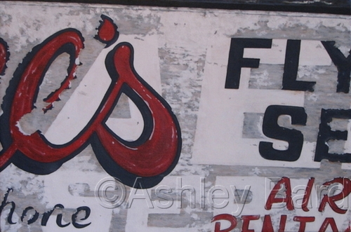 Old Flying Service Sign