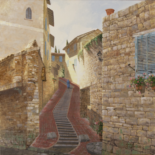 Assisi Staircase by Anthony Suminski
