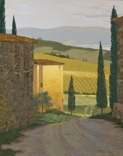 San Gimignano Vineyard by Anthony Suminski