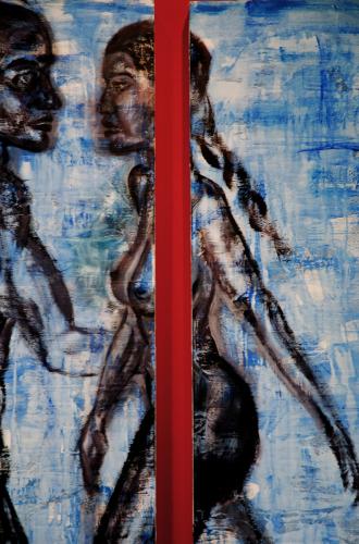 Tango Azul, detail