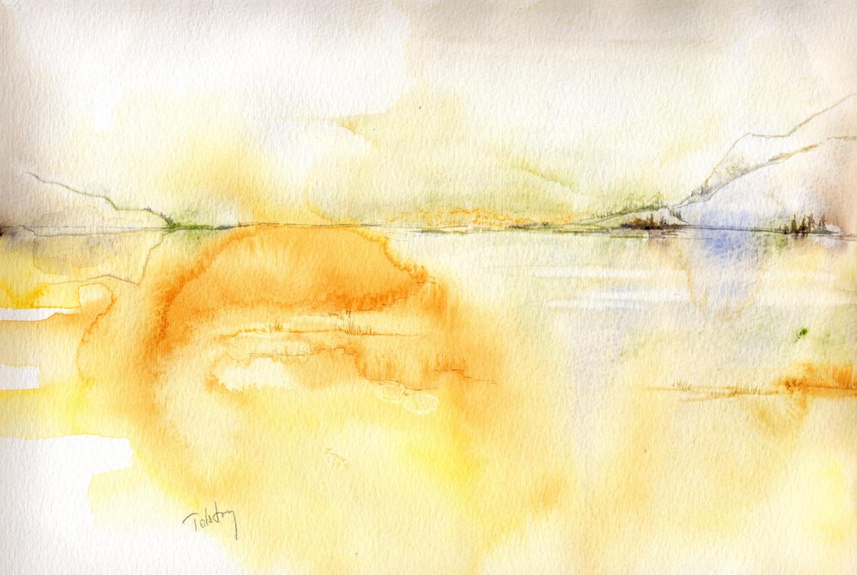 Golden lake (large view)