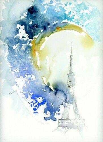 The Tour Eiffel by atolstoyart.com