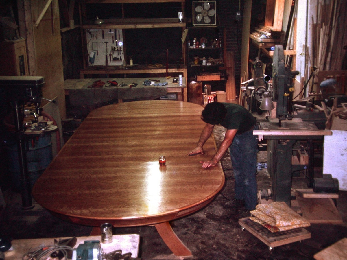 Cherry conference table, in progress (large view)
