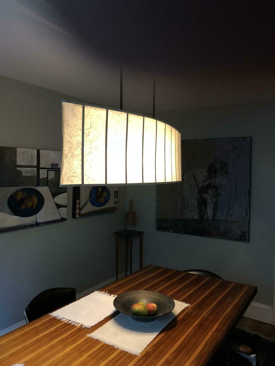 lantern, Kozo paper, maple, steel (large view)