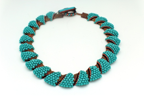 Turquoise Beaded Neckklace by Attitude by Austin
