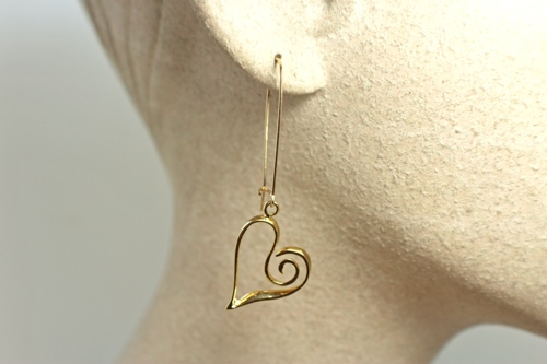 Open Heart Earring