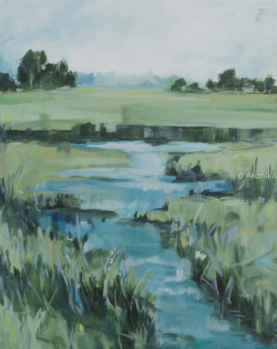 Watercreek abstract landscape