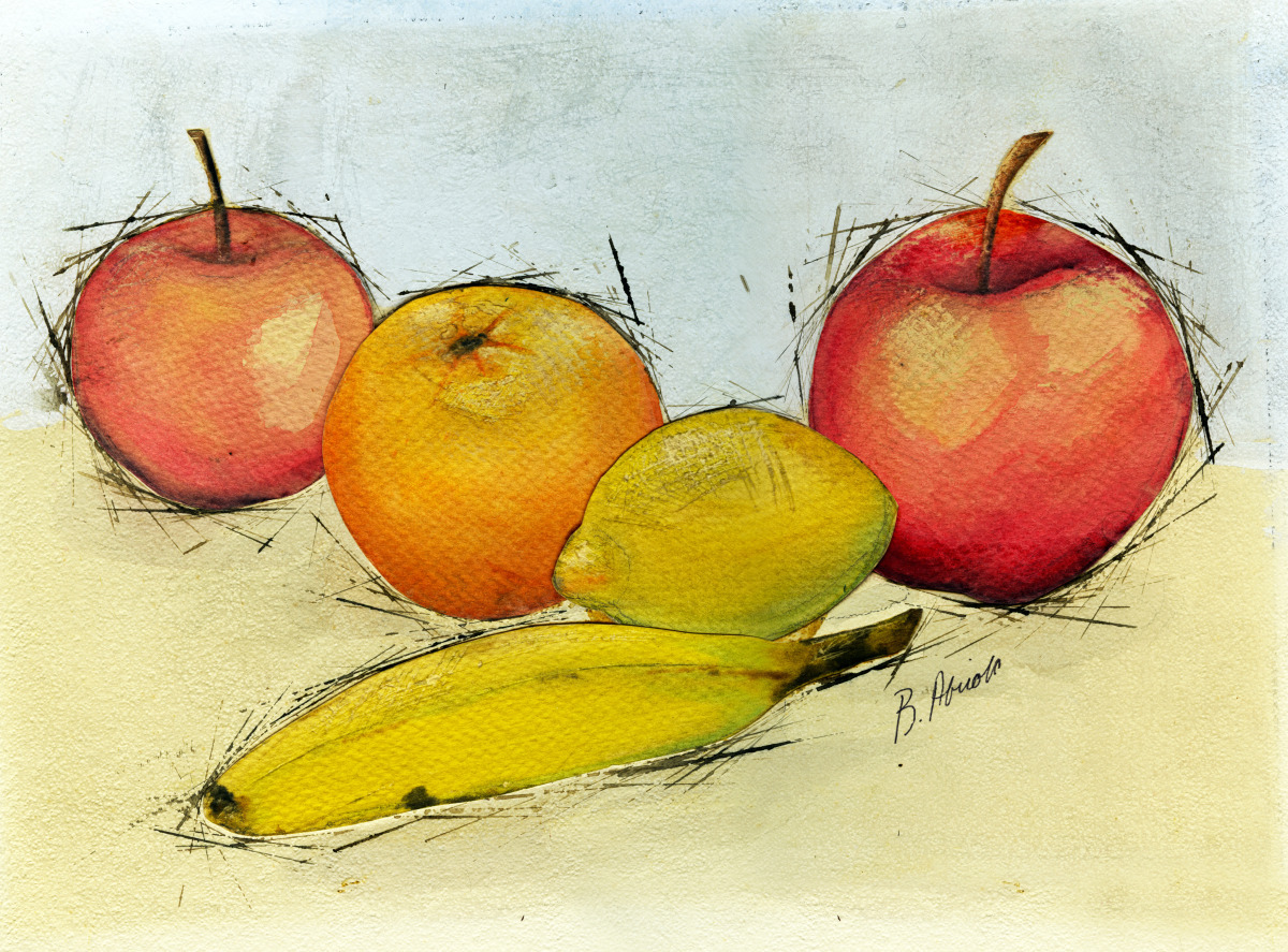 "Watercolor Paintings Of Fruit Painting : ""Fruit..."