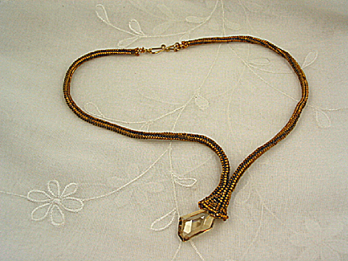Gold Herringbone Necklace by Barb Richard