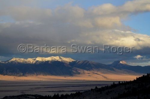 Snowy Mountains - Montana by Barbara Swan Roger