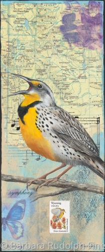 State Bird of Wyoming - The Western Meadowlark
