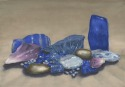 Watercolor painting to enhance body, mind, and spirit using genuine gemstone and natural pigments. (thumbnail)