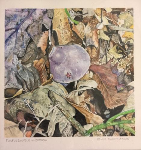 Purple Double Mushroom