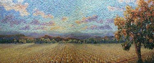 #67 & #68 Cut Corn Field, Diptych