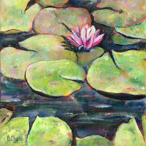 Pink Lily in Pond #1