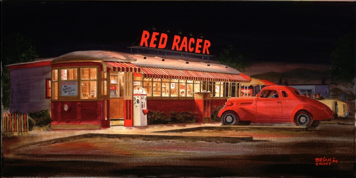 Painting red racer diner penticton 1960 39 s original for Diner painting