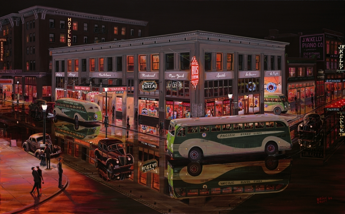 Vancouver Bus Terminal - 1939 (large view)